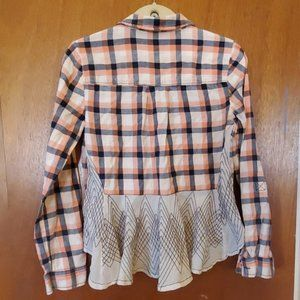 Holding Horses Plaid button down with detail back